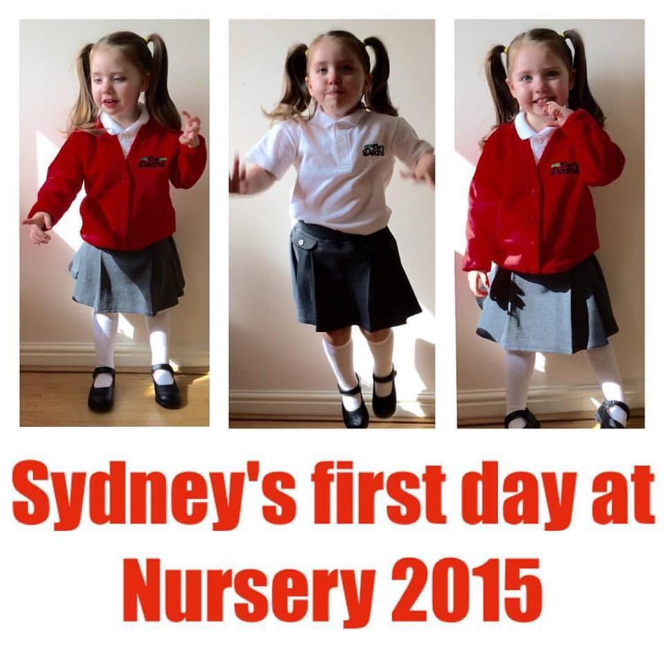 Sydney And School - First day in nursery 2015