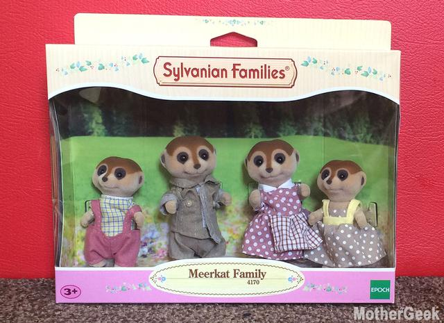 Sylvanian Families Spotter Meerkat Family in packaging