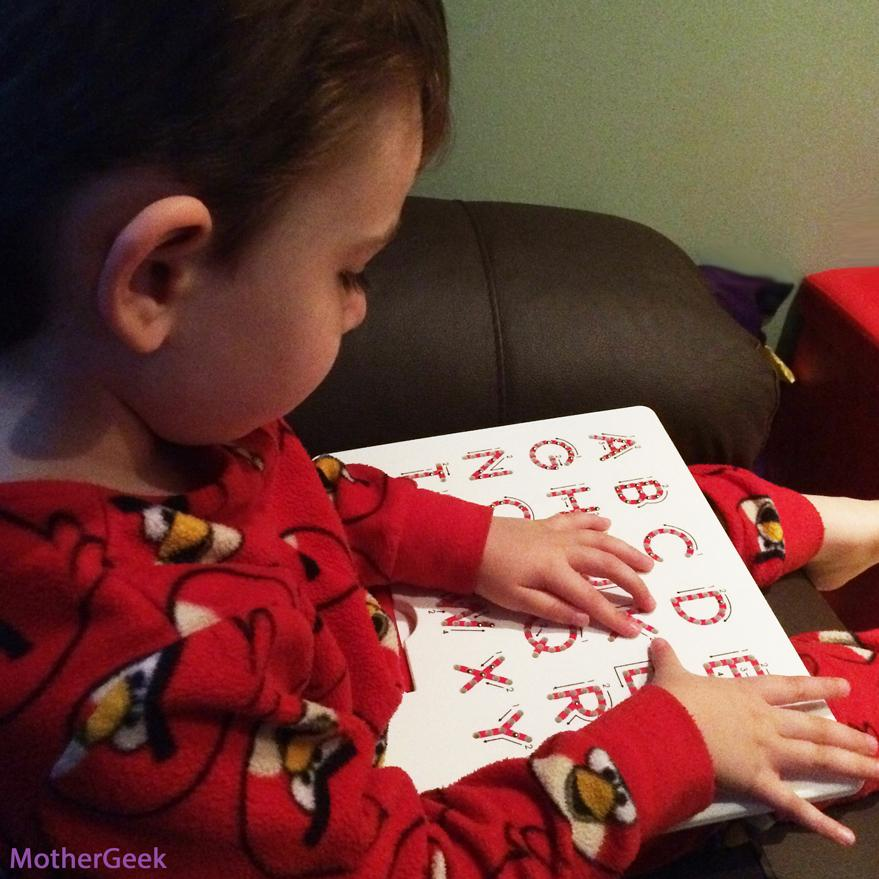 4 year old using A-Z MagnaTab Review