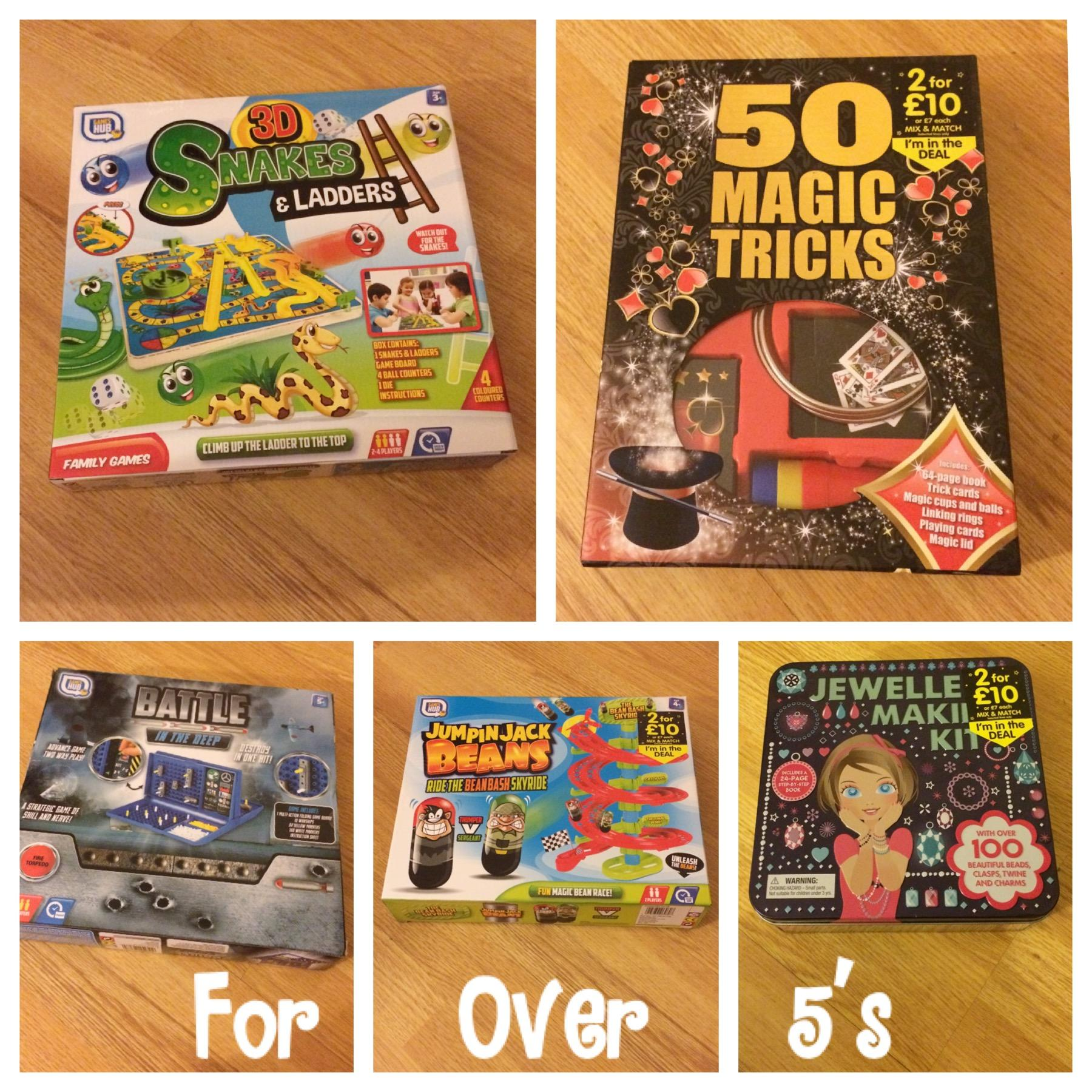 Christmas bargains for over 5's