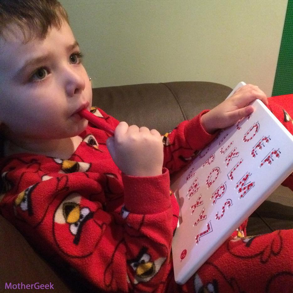 MagnaTab Review - Toddler using A-Z MagnaTab