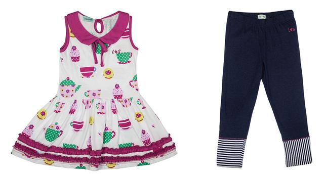 A dress and leggings from Lily And Sid