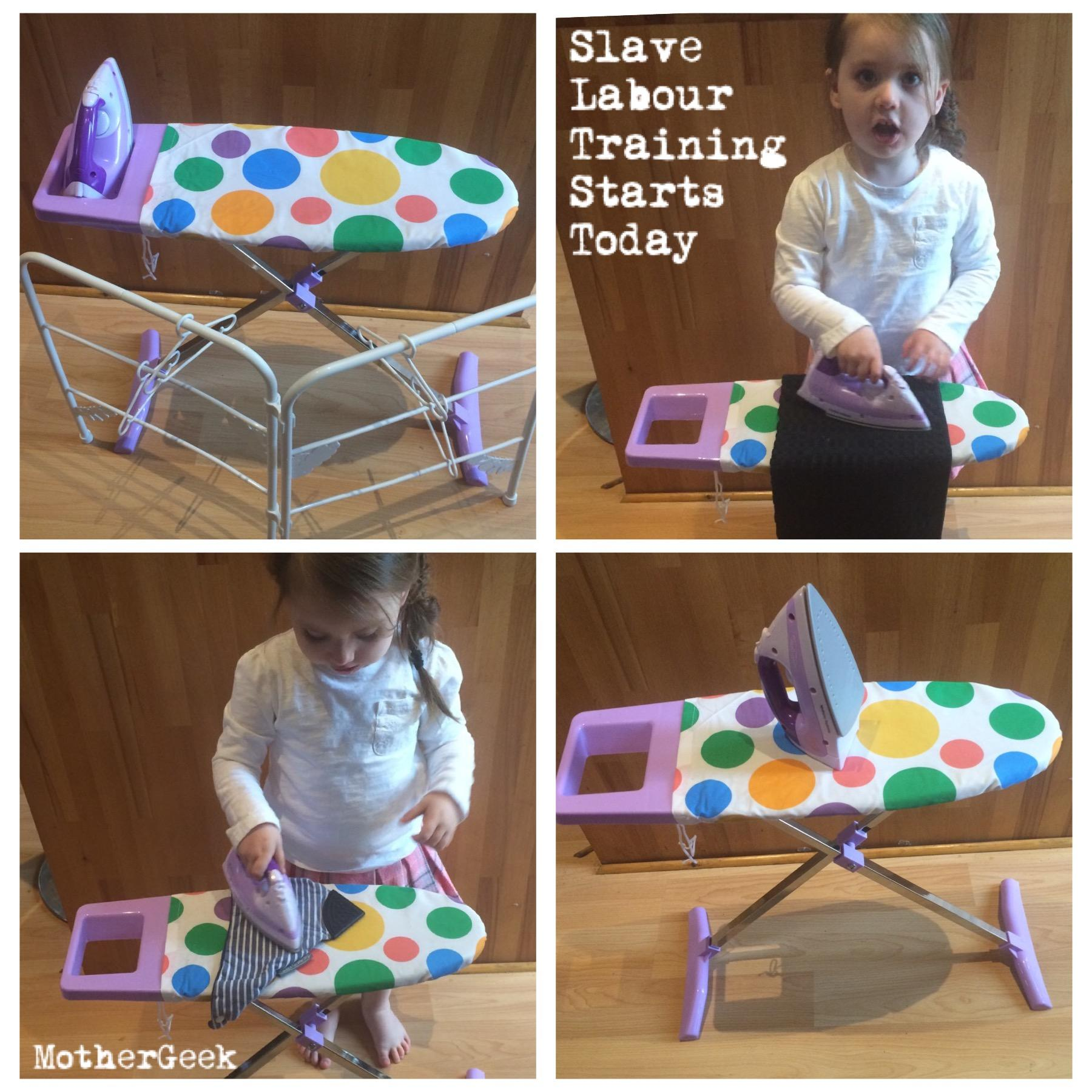 Casdon Little Helpers Ironing Set Review in use
