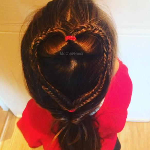 love heart hair Hairstyle Ideas For Young Girls