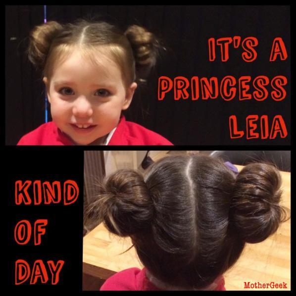 easy Princess Leia Hair tutorial