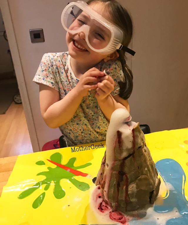 erupting volcano experiment for kids