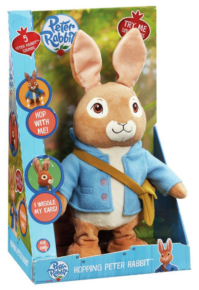 Peter Rabbit Hop With Me Plush - in the box