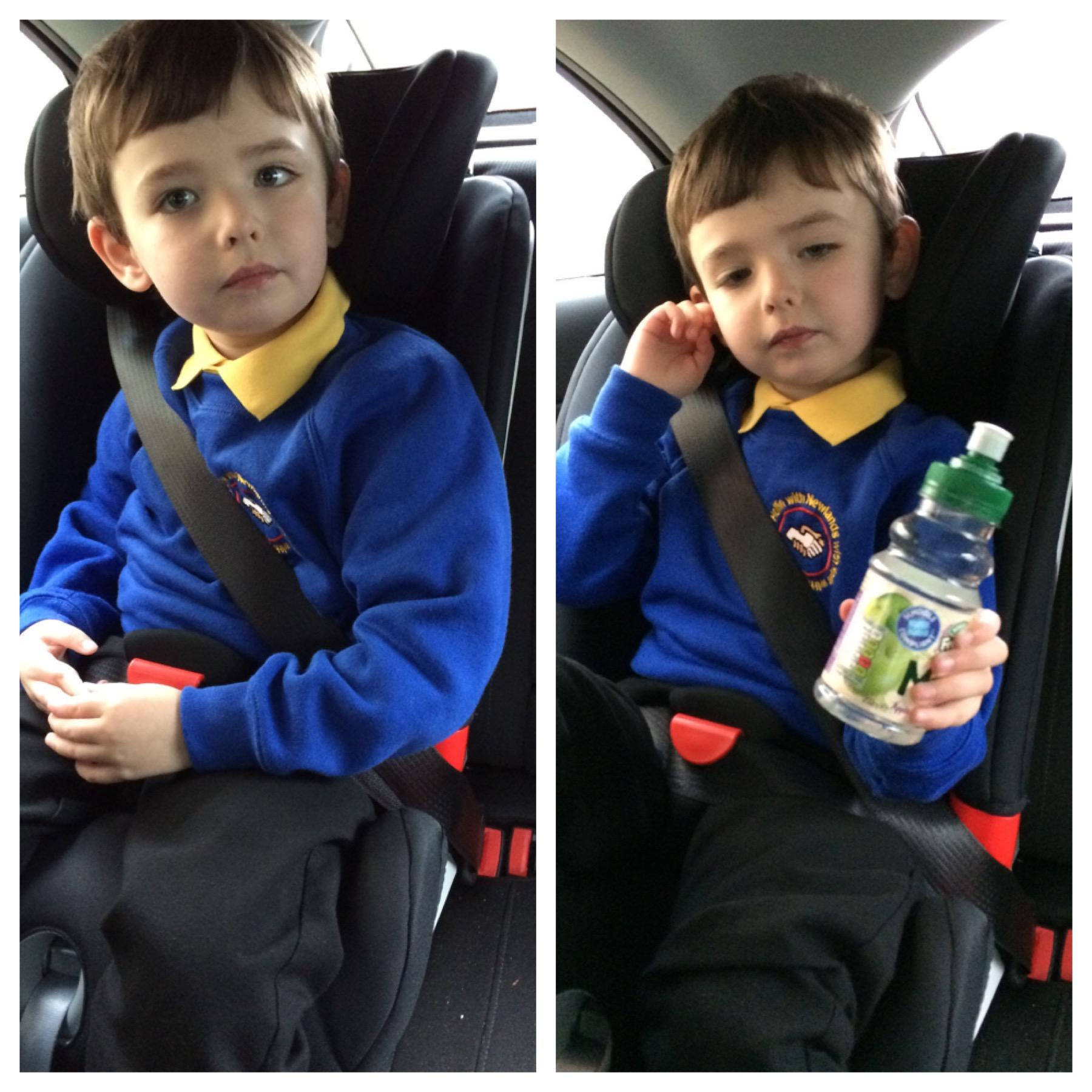 Sam in his Britax Advansafix II SICT Car Seat