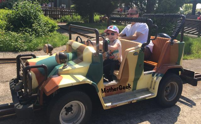 Is Knowsley Safari Park Autism Friendly? Syd on the safari jeep