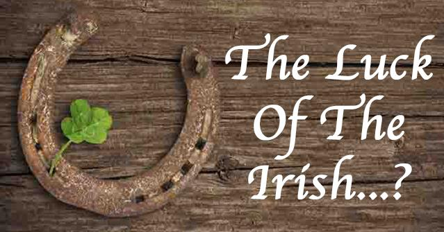 The Irish Lottery - horse shoe and the words the luck of the Irish?