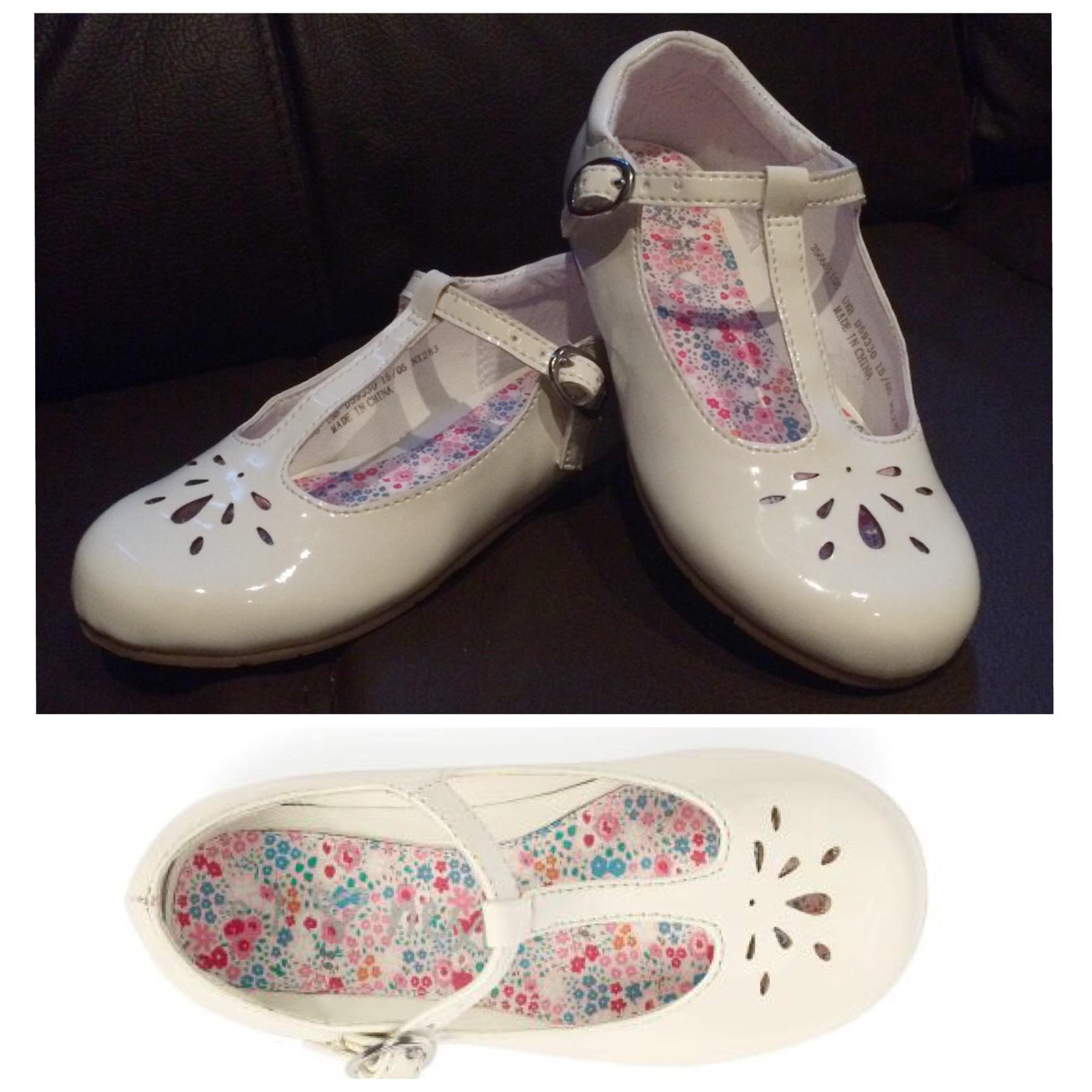 White T Bar Toddler Shoes