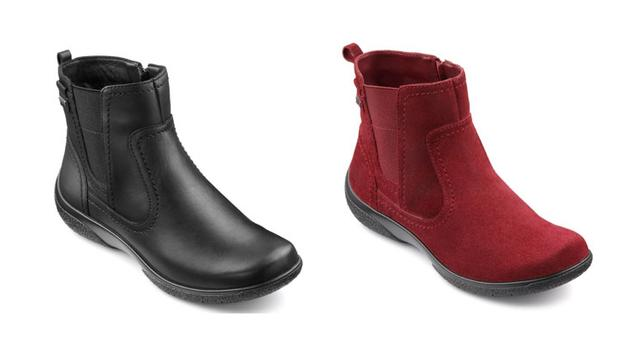 Hotter Shoes Kendal Boots Red and Black