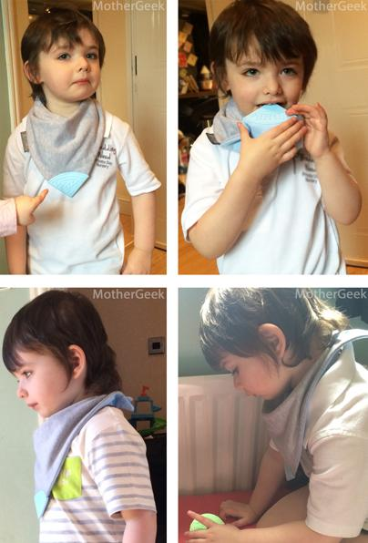 4 year old wearing a Cheeky Chompers Medium Neckerchew Review