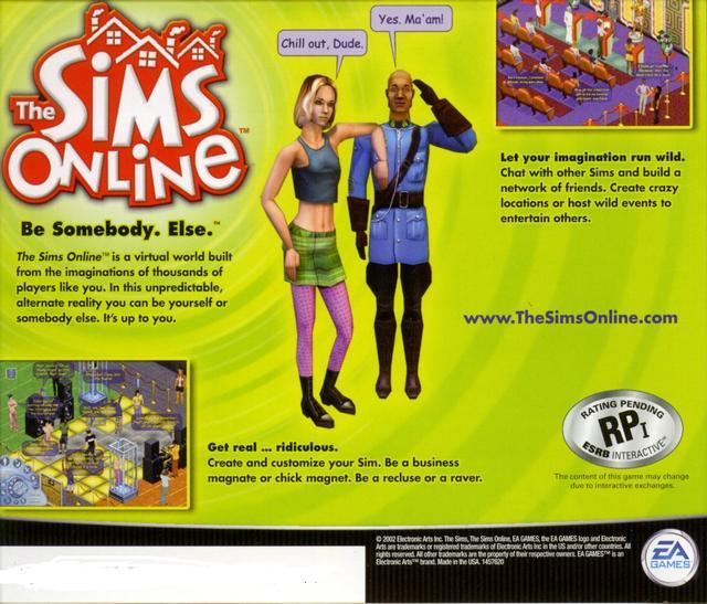 female gamer - Sims Online