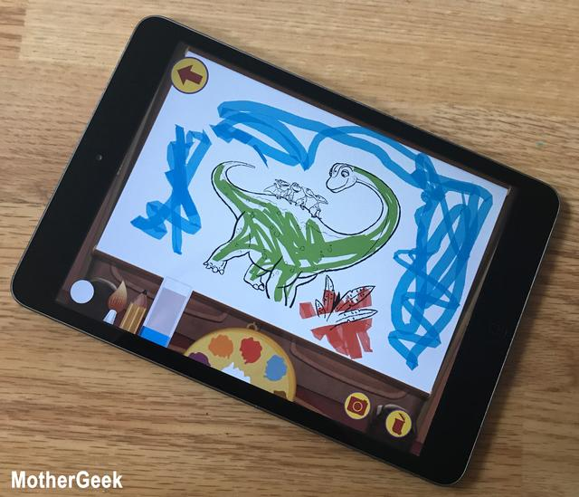 Dinosaur Train Paint and Match App - colouring
