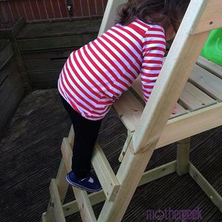 TP Forest Wavy Slide toddler climbing steps