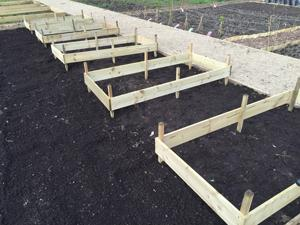 raised bed frames going in as part of our plans for the allotment