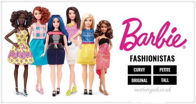 plus size dolls - Barbie Fashionistas range