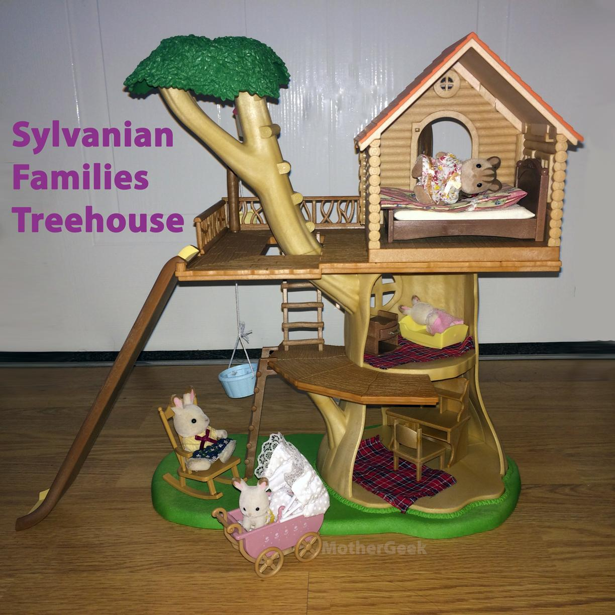 Sylvanian Families Treehouse furnished