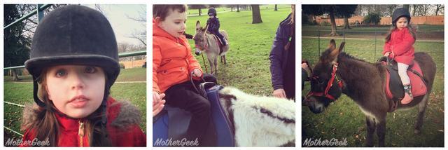 Donkey rides at Heaton Park