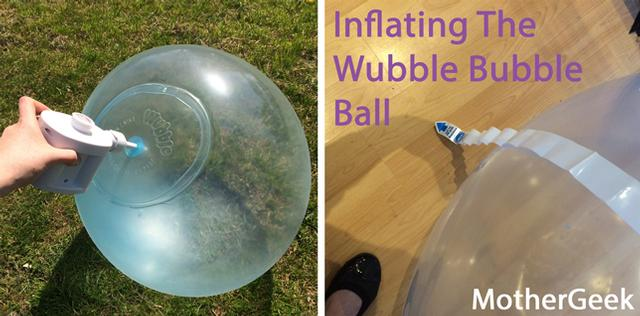 Wubble Bubble Ball being inflated