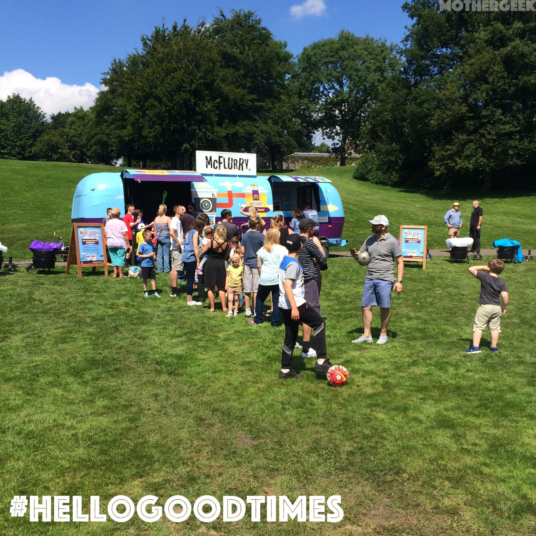 McFlurry Van at #HelloGoodTimes festival