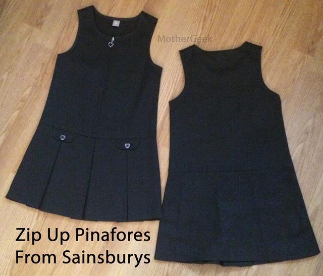 Sainsburys School Uniform Review 2 pinafores