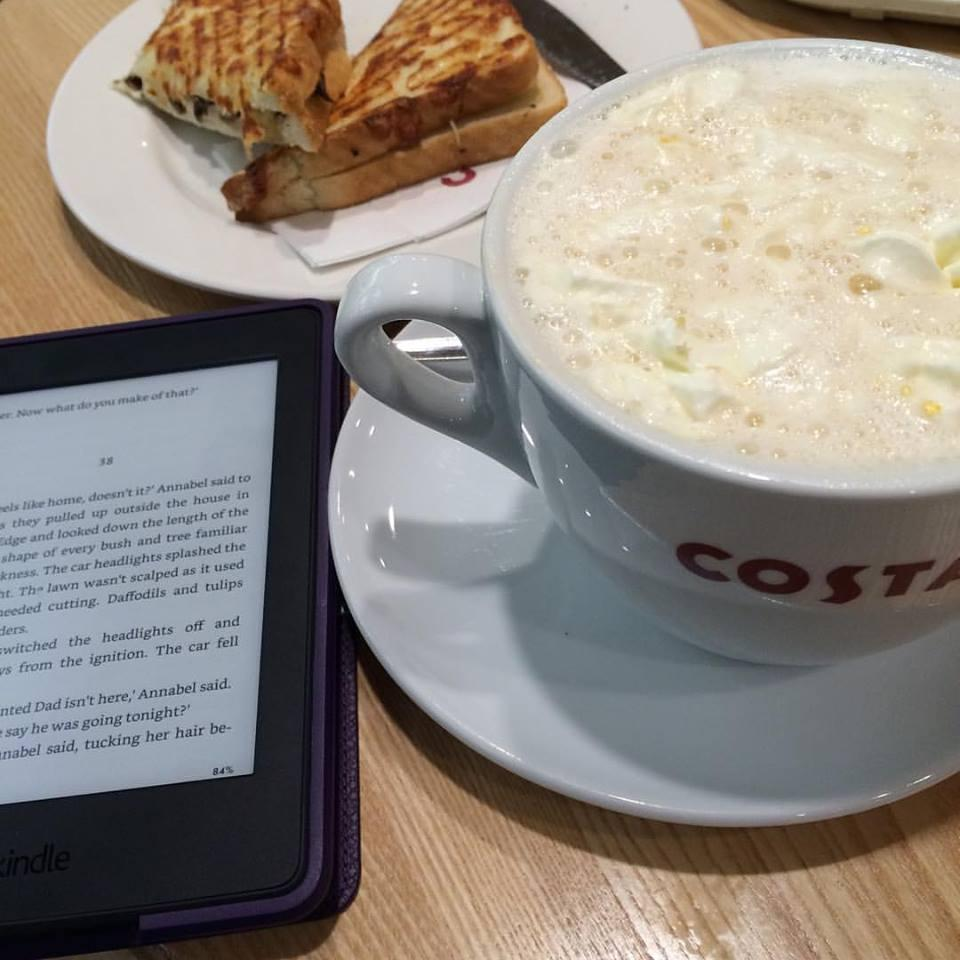 A Day To Myself - kindle, coffee and toastie