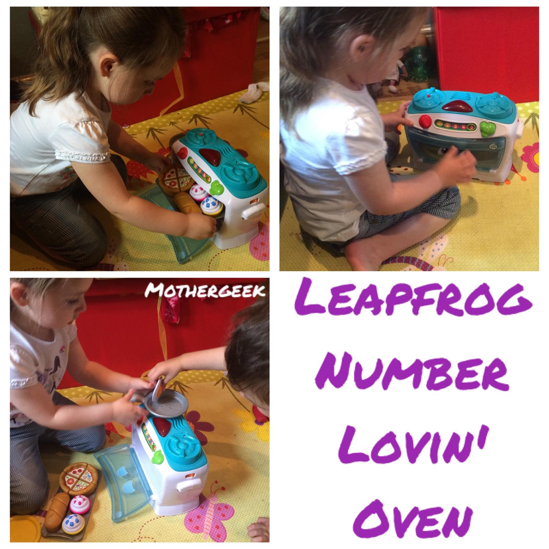 Leapfrog Number Lovin' Oven review - Syd playing with the toy